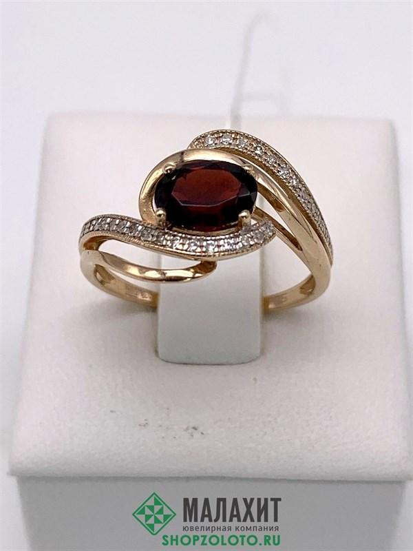 Кольцо из золота 2,5 гр. с бриллиантами, 16,5 размер - фото 26889