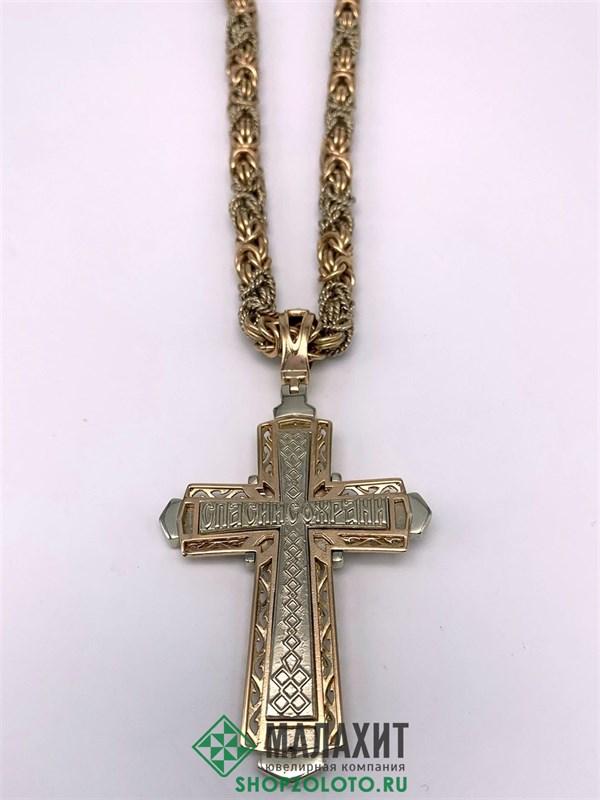 Цепь из золота 138,59 гр. с бриллиантами, 65 размер - фото 29623