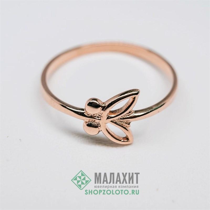 Кольцо из золота 1,65 гр., 19,5 размер - фото 35450