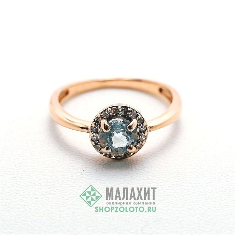 Кольцо из золота 1,83 гр. с бриллиантами, 15,5 размер - фото 36598