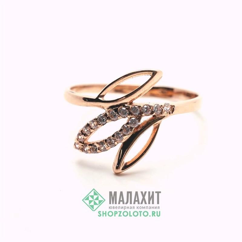 Кольцо из золота 1,68 гр., 18 размер - фото 42026