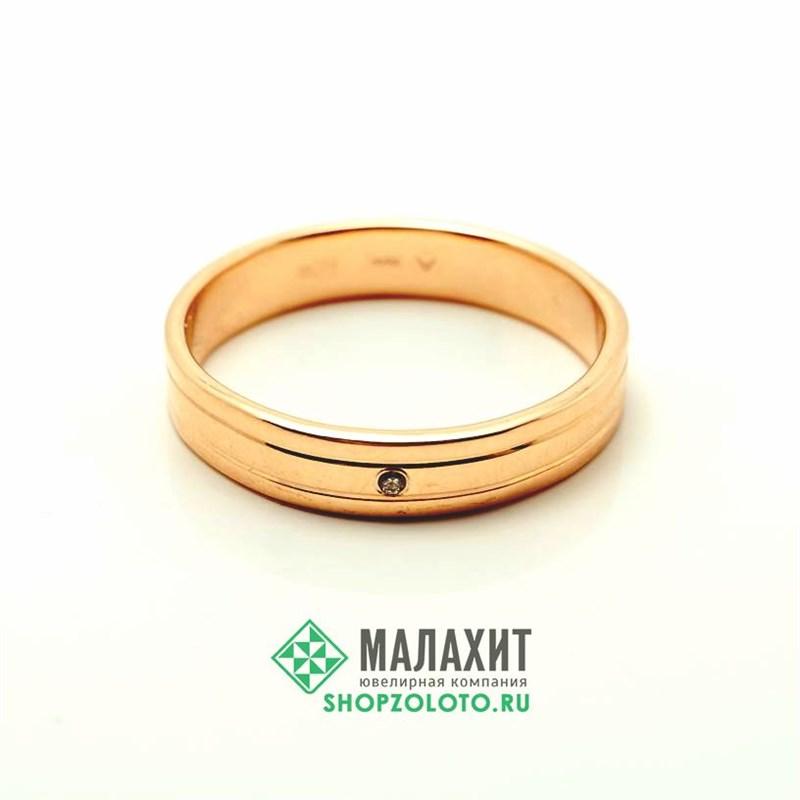 Кольцо из золота 3,15 гр. с бриллиантами, 21,5 размер - фото 45155