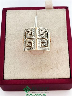 Кольцо из золота 6,7 гр. с бриллиантами, 17 размер