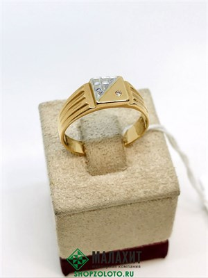Кольцо из золота 4,11 гр., 19 размер