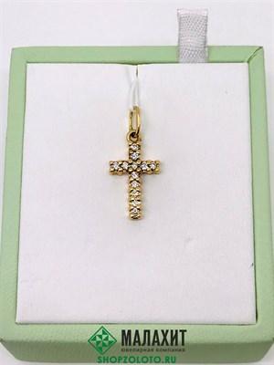 Подвеска из золота 1,76 гр. с бриллиантами