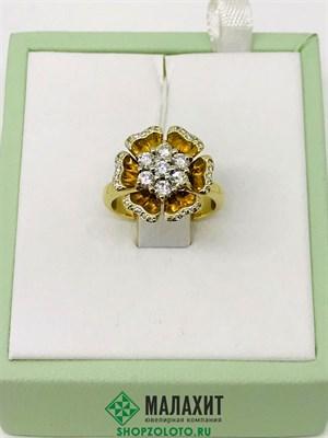 Кольцо из золота 6,89 гр. с бриллиантами, 15,5 размер