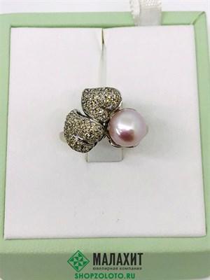 Кольцо из золота 6,24 гр. с бриллиантами, 16,5 размер