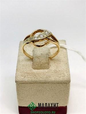 Кольцо из золота 3,37 гр., 19 размер