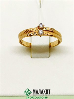 Кольцо из золота 2,29 гр., 17,5 размер