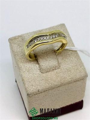 Кольцо из золота 4,29 гр. с бриллиантами, 17 размер