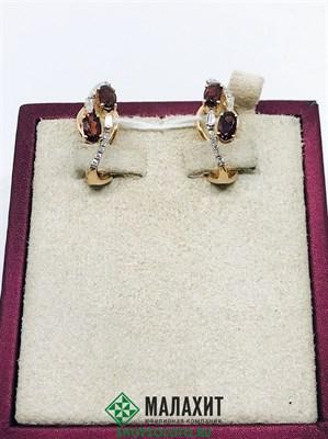 Серьги из золота 5,82 гр. с бриллиантами
