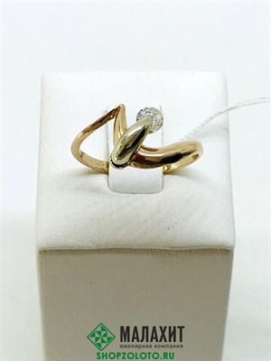 Кольцо из золота 2,63 гр., 17,5 размер