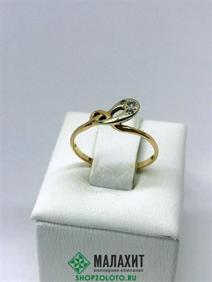 Кольцо из золота 1,18 гр., 17 размер