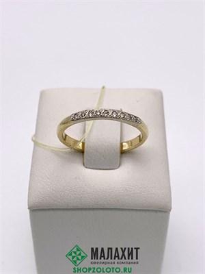 Кольцо из золота 1,84 гр. с бриллиантами, 17 размер