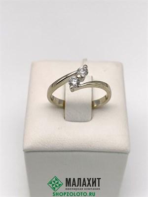 Кольцо из золота 2 гр. с бриллиантами, 16 размер