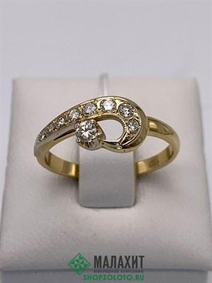 Кольцо из золота 3,34 гр. с бриллиантами, 17,5 размер