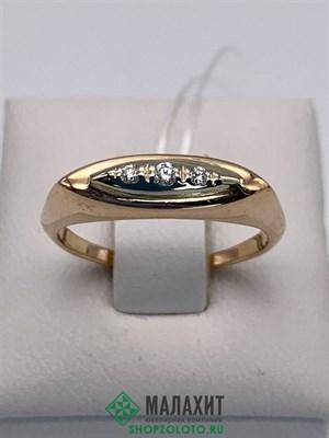 Кольцо из золота 2,99 гр. с бриллиантами, 17,5 размер