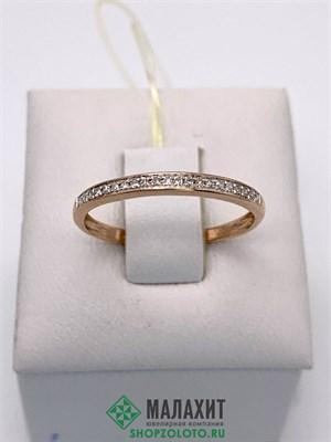 Кольцо из золота 1,12 гр. с бриллиантами, 16,5 размер