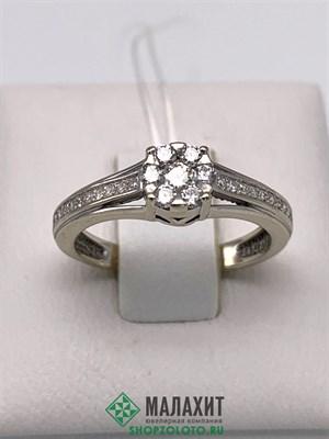 Кольцо из золота 2 гр. с бриллиантами, 15,5 размер