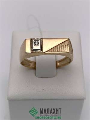 Кольцо из золота 2,36 гр., 19 размер