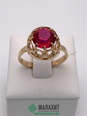 Кольцо из золота 3,81 гр., 19 размер