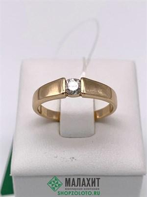Кольцо из золота 2,83 гр. с бриллиантами, 17 размер