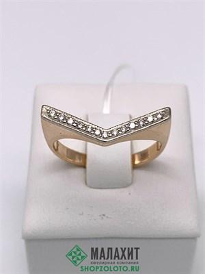 Кольцо из золота 3,72 гр. с бриллиантами, 18 размер