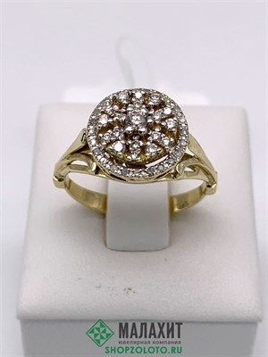 Кольцо из золота 4,19 гр. с бриллиантами, 17,5 размер