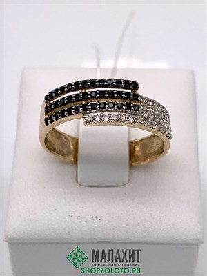 Кольцо из золота 2,17 гр. с бриллиантами, 18 размер