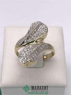 Кольцо из золота 3,42 гр. с бриллиантами, 16,5 размер