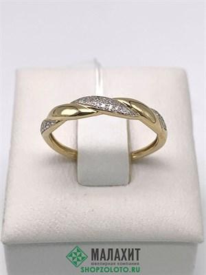 Кольцо из золота 1,4 гр. с бриллиантами, 16,5 размер