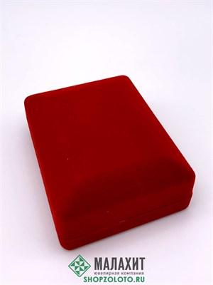 ФУТЛЯР Классика, под кольцо+серьги  прямоугольный красный