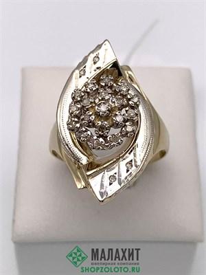Кольцо из золота 4,69 гр. с бриллиантами, 17,5 размер