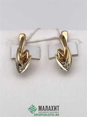 Серьги из золота 3,65 гр. с бриллиантами