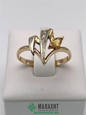 Кольцо из золота 2,53 гр., 18 размер
