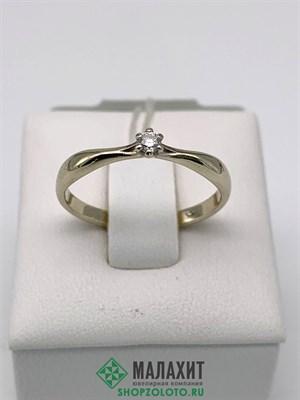 Кольцо из золота 1,58 гр. с бриллиантами, 17 размер
