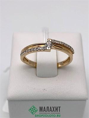 Кольцо из золота 1,97 гр. с бриллиантами, 17 размер