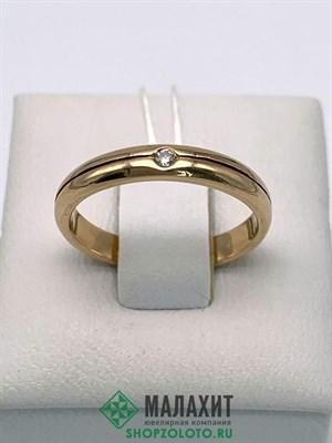 Кольцо из золота 2,4 гр. с бриллиантами, 16 размер