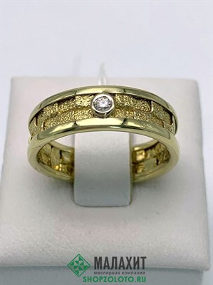 Кольцо из золота 3,99 гр. с бриллиантами, 18 размер
