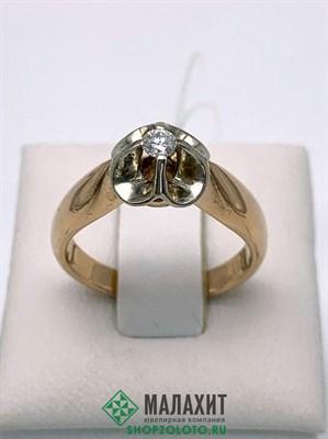 Кольцо из золота 4,88 гр. с бриллиантами, 16,5 размер