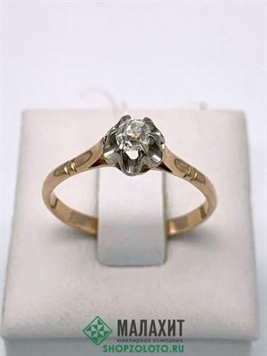 Кольцо из золота 2,31 гр. с бриллиантами, 18,5 размер