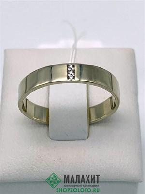 Кольцо из золота 2,82 гр. с бриллиантами, 18,5 размер