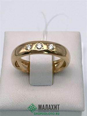 Кольцо из золота 4,46 гр. с бриллиантами, 17,5 размер
