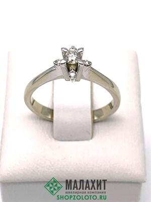 Кольцо из золота 3,15 гр. с бриллиантами, 17 размер