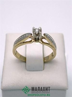 Кольцо из золота 3,12 гр. с бриллиантами, 18 размер