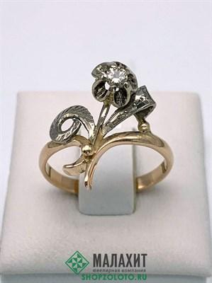 Кольцо из золота 2,92 гр. с бриллиантами, 17 размер