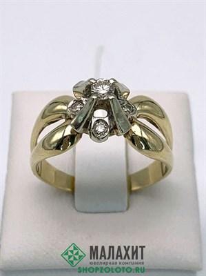 Кольцо из золота 5,38 гр. с бриллиантами, 19 размер