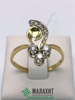 Кольцо из золота 3,2 гр. с бриллиантами, 20 размер