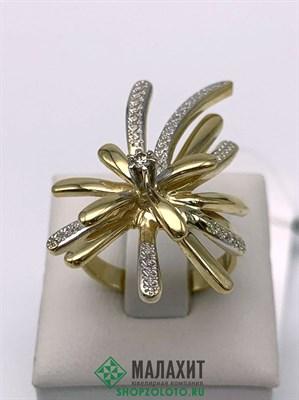 Кольцо из золота 7,98 гр. с бриллиантами, 18,5 размер