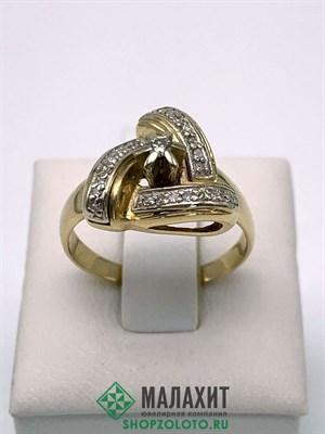 Кольцо из золота 5,01 гр. с бриллиантами, 18 размер